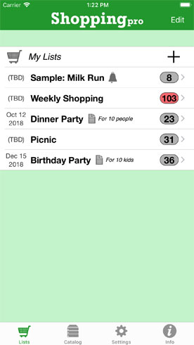 Quinnscape Shopping Pro Grocery List App For The Iphone Ipad
