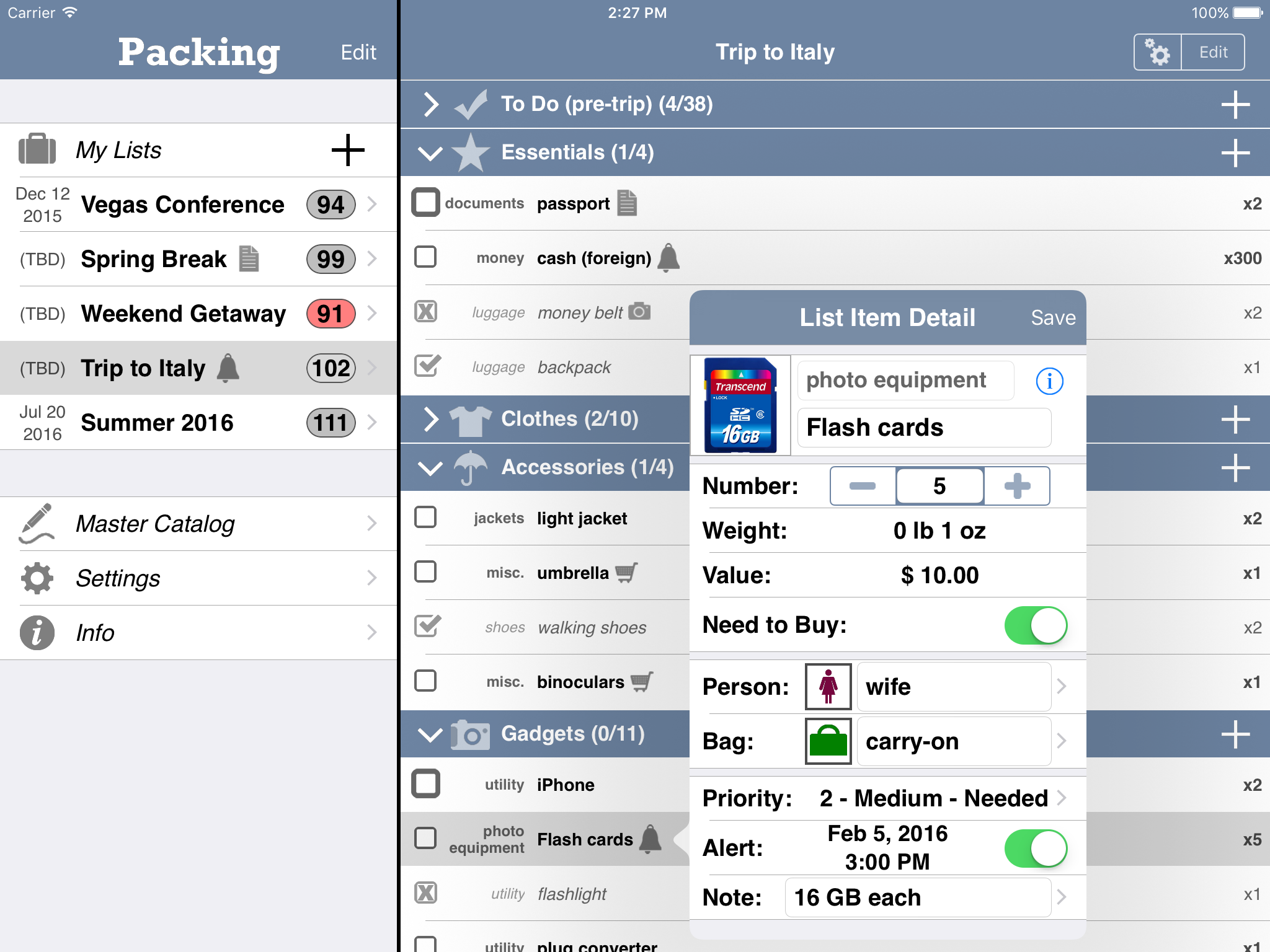 Packing (+TO DO!) Travel App Now Free for Four-day Pre-Christmas Sale Image