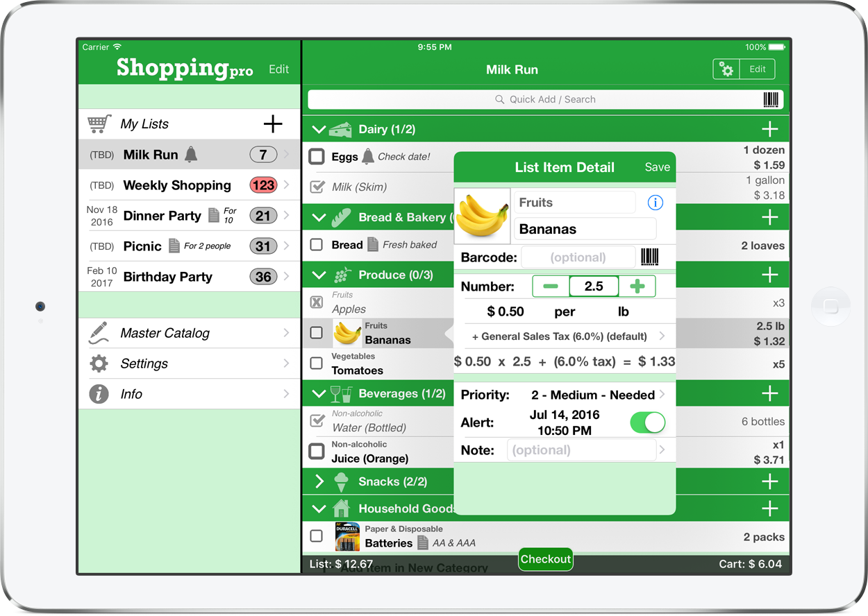 Major Update Streamlines Shopping Pro - Adds Sort and Search to Catalog Image